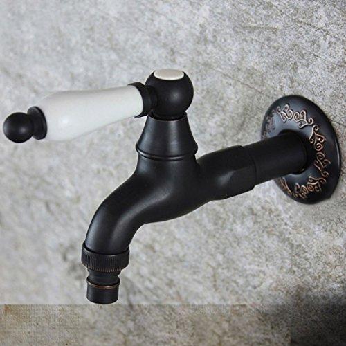 PIGE Wasserhahn Kupfer Einzelkalt verlängerte 4 Punkte Schnittstelle Mop Teich Badezimmer Balkon Wasserhahn Fast Water Düse Keramik Core