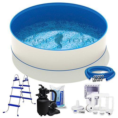 Pool-Set Komfort Ø 400 x 090m 06mm Stahl 06mm Folie mit Keilbiese