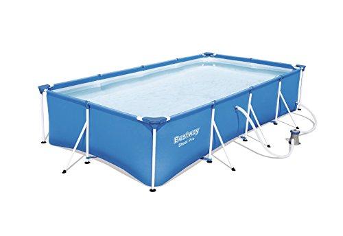Bestway Steel Pro Frame Pool Set rechteckig blau 400 x 211 x 81 cm