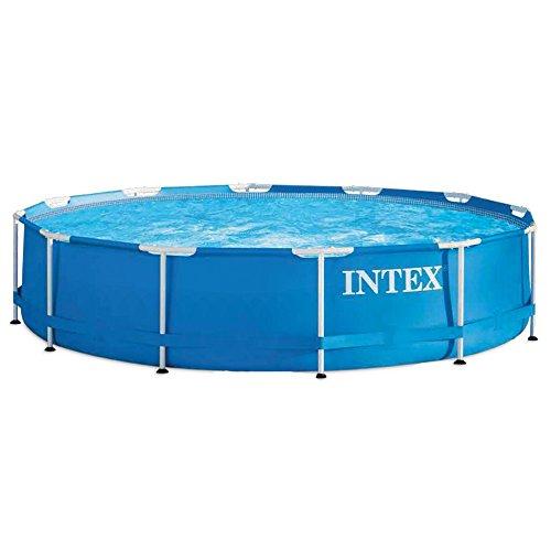Intex Aufstellpool Frame Pool Set Rondo ohne Filterpumpe blau Ø 366 x 76 cm