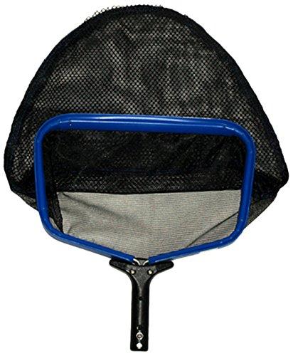 pooline Produkte 11524ss Heavy Duty Tief Kleinrechen mit breiter Mund und stabiler steif Net inkl blauen Rahmen schwarzer Griff und Schwarz Netz