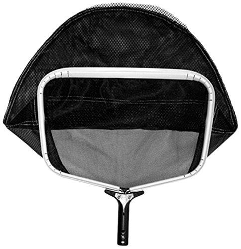 pooline Produkte 11524ts Medium Heavy Duty Tief Rechen mit breiter Mund und stabiler Weich Net inkl weißen Gestell schwarz Griff und Schwarz Netz