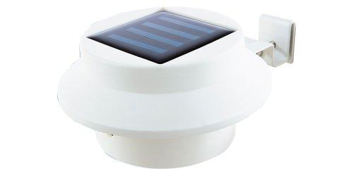 EASYmaxx 08720 Solar-Leuchte für Dachrinne  3er-Set  mit Tageslichtsensor Kabellos  Weiß