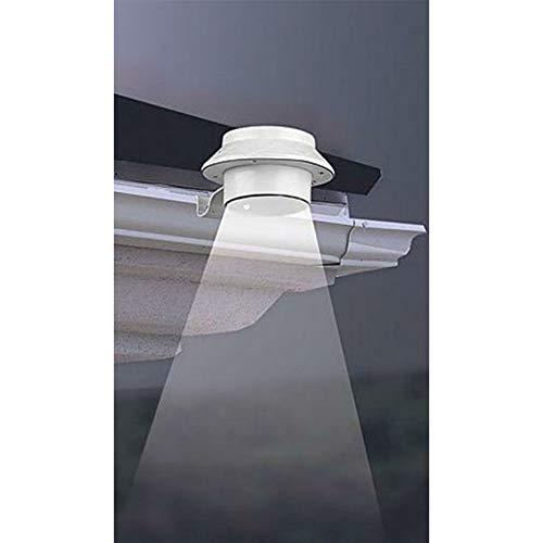 Unbekannt LED-Dachrinnen Solarleuchte mit 3 LED´s - weiß 6-8 Stunden Leuchtdauer wetterfest inkl Batterie
