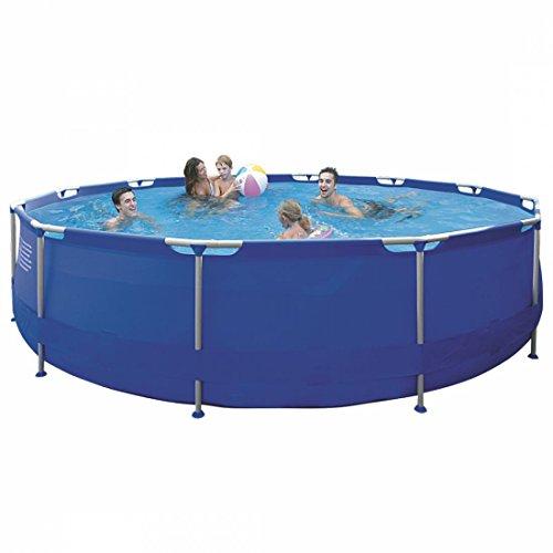 Jilong Sirocco Blue 420 - Stahlrahmenbecken runder Pool Durchmesser 420 x 84 cm blau 9495 L 17542