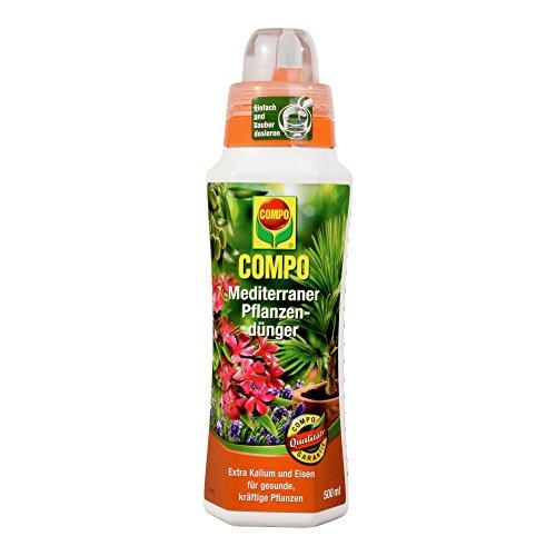 COMPO Mediterraner Pflanzendünger für mediterrane Pflanzen Spezial-Flüssigdünger mit extra Kalium und Eisen 500 ml