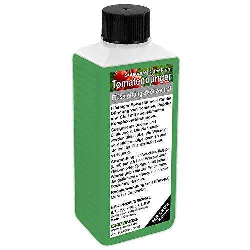GREEN24 Tomatendünger Paprika Dünger Chilli düngen Premium Flüssigdünger aus der Profi Linie
