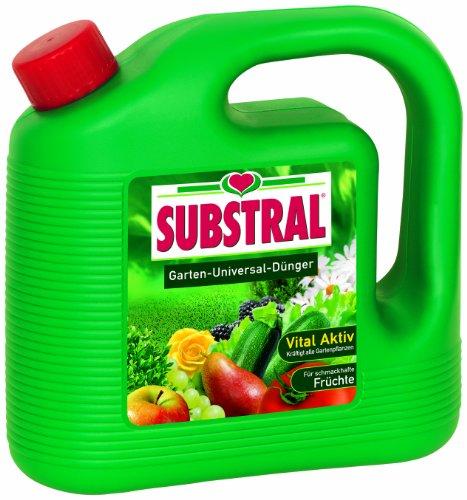 Substral Garten-Universal-Dünger Spezial-Flüssigdünger für alle Blumen Sträucher Bäume Beeren Obst und Gemüse 4 Liter Kanister
