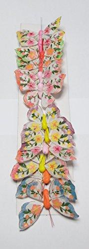 Dekostecker Schmetterling mit Befestigungsdraht - 8cm - 12er Set - Osterdeko - Osterstecker - Blumenstecker - Deko-Schmetterling