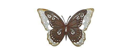 Schmetterling aus Metall in Trendiger Rostoptik Gartendeko Schmetterling Außendeko aus Metall Deko-Schmetterling für den Außenbereich