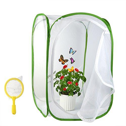 FEPITO 2Pcs Terrarium von Insekten und Schmetterlingen Lebensraum mit Kindern Bug Catcher Net 236 Zoll groß