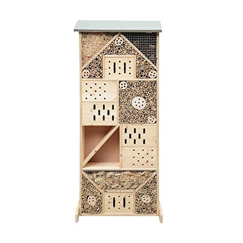 Gardigo Insektenhotel XXXL  Insektenhaus 120 cm groß aus Holz  Nistkasten für Bienen Florfliegen Marienkäfer und Schmetterlinge  Gefüllt mit Naturmaterialien wie Bambus