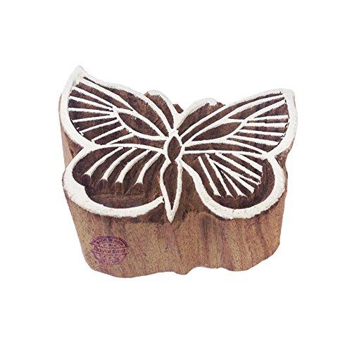 Royal Kraft Städtisch Schmetterling Insekt Design Holz Blöck Drucken Stempel