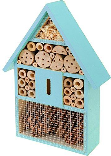 matrasa Insektenhotel für Bienen Schmetterlinge Marienkäfer und andere Insekten BLAU