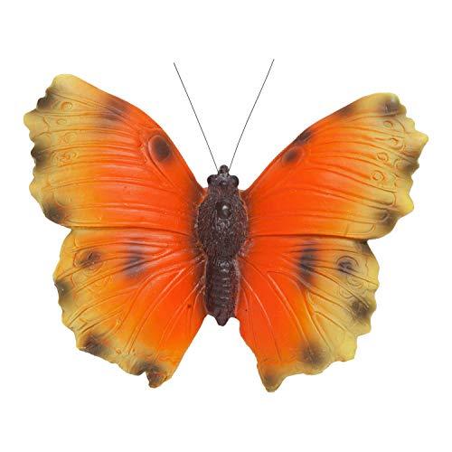 Garten Wand Deko Figur Großer Schmetterling in Gelb Orange oder Schwarz Orange