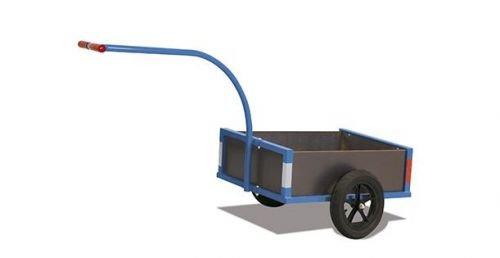 Leichter Handwagen Traglast kg 150 Ladefläche 690 x 425 mm RAL 5010 Enzianblau