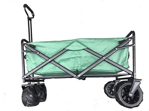 Meister BOLLERWAGEN BIG WHEEL Bollerwagen Handwagen faltbar breite Räder Grün