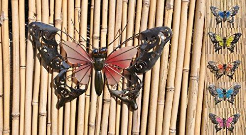 Schmetterling Glow in The Dark Metall Wand Deko Eisen Garten Wandschmuck Falter FarbeRot