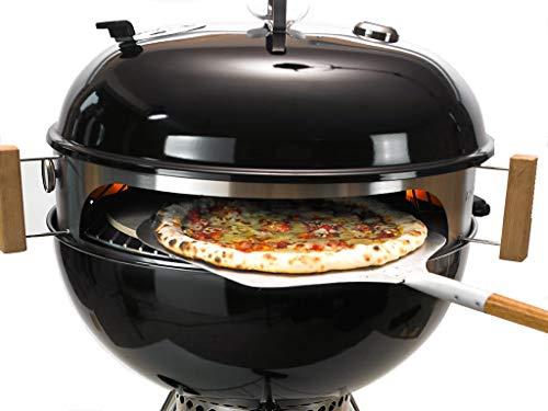 Moesta-BBQ Smokin PizzaRing - Komplettpaket für Pizza Backe die perfekte Pizza in deinem Kugelgrill Erweiterbar Rotisserie Churrasco Set Pan