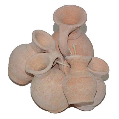 5 Mini Amphoren Set Terracotta Terrakotta Blumen Aquarium Deko Basteln Floristik Miniamphoren
