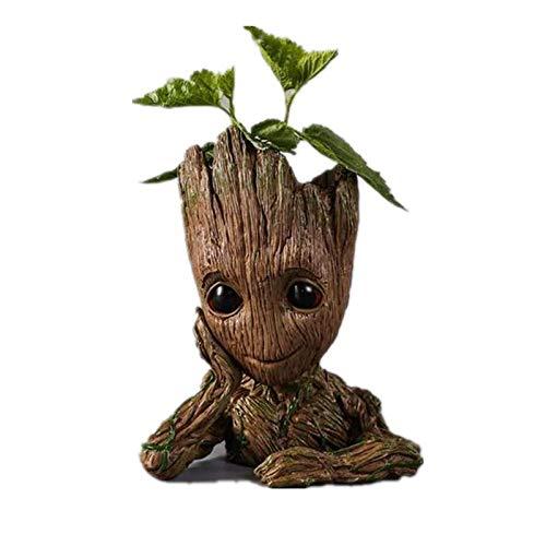 Marvel Baby Groot BlumentopfFigur Limitiert  - Übertopf Groß Aquarium Deko Figur Holz Aschenbecher Stiftehalter Groß XXL
