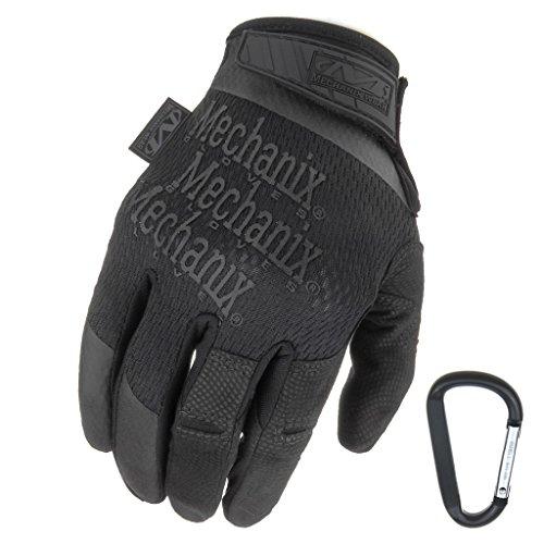 MECHANIX WEAR Specialty High Dexterity 05mm 2017 Taktische Einsatz-Handschuhe atmungsaktiv ergomisch  Gear-Karabiner Schwarz CoyoteGröße S M L XL M Schwarz