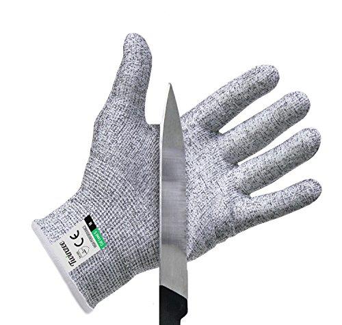 Twinzee Schnittschutz-Handschuhe 1 Paar – Extra Starker Level 5 Schutz EN-388 Zertifiziert Lebensmittelecht – Hochwertig und Leicht für alle Zwecke - Perfekte Passform Medium