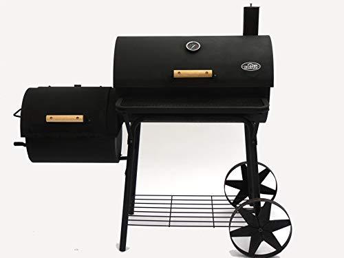 I&O BBQ  Smoker Grill Cajun Pro  Lokomotive Kohlegrill