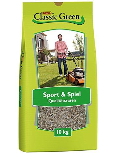 CLASSIC GREEN Rasensaat Sport und Spiel Rasensaat 10kg  Grassamen  Rasensamen 10kg  Rasensamen Sport und Spiel  Premium Rasensaat  Rasensaat Sport  Rasensaatgut  Rasensaat robust  Rasensamen Schatten
