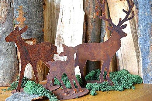Deko Hirschfamilie Hirsch Reh Kitz Rost Edelrost Metall Rostfigur Metalldeko Wohndeko Weihnachten Weihnachtsgeschenk Weihnachtsdeko Winter Winterdeko