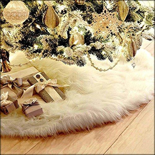 About1988 Weihnachtsbaum Rock 78cm Weihnachtsbaumdecke Weihnachtsdeko Weihnachtsbaum Rock Weiß Plüsch Weihnachtsbaum Decke Weihnachtsbaum Deko Weiß 78cm