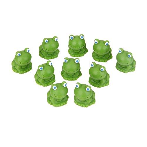 SHMGG Zehn PCs Miniatur Blue Eye Frosch Moos Fairy Garden Micro Landschaft Bonsai Decor Ornaments