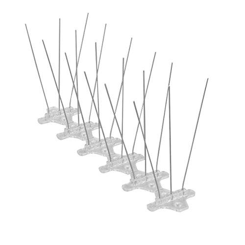WARKHOME 3 Reihig Edelstahl Taubenabwehr Vogelabwehr Taubenspikes sehr stabil 24m Profiqualität Vogel Spikes  Taubenspikes aus Edelstahl
