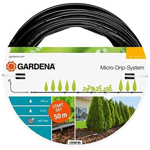 GARDENA Start Set Pflanzreihen L Micro-Drip-Gartenbewässerungssystem zur schonenden wassersparenden Bewässerung von Reihenpflanzungen 13013-20