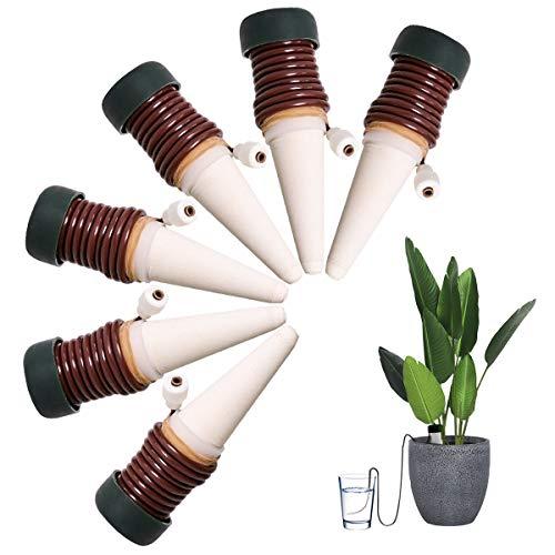 FEIGO Wasserspender für Zimmerpflanzen Automatisch Bewässerungssystem 6 Stück Wasserspender mit Saugschlauch 11  3cm kleinere Topfpflanzen Bonsai Pflanzen Blumen auf Balkon