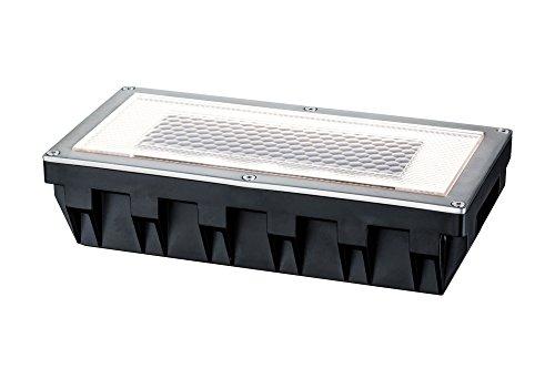 Paulmann 93775 Bodeneinbauleuchten-Set Solar Einbaustrahler Box LED Spot Edelstahl 1er Set 1x06W inkl Leuchtmittel Außenbereich begehbar