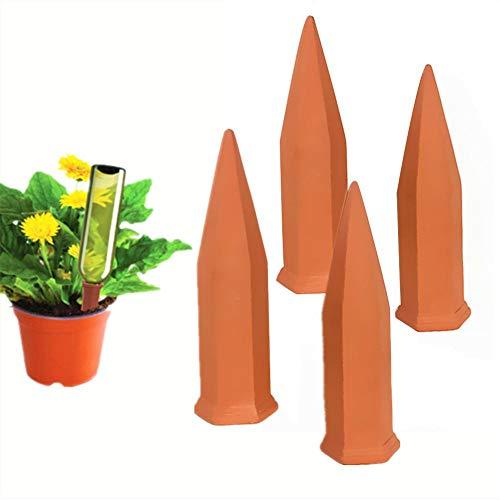 Seasaleshop Automatisch Bewässerung Wasserspender Topfpflanzen 4 Stück für Keramik Zimmerpflanze Spikes Bonsai Pflanzen Blumen Hydro Classic Tonkegel Terracotta by