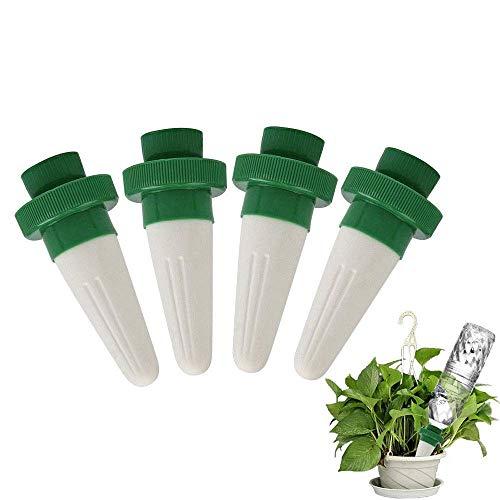 TOPBSET 4 Stück Automatisch Bewässerung Bewässerungssystem Zimmerpflanzen Wasserspender für Keramik Zimmerpflanze Spikes Bewässerung Bonsai Pflanzen Blumen