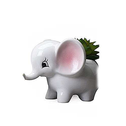 Hemore Elefanttopf kreativer Sukkulenten-Elefanten-Halter Keramik Elefant-Topf Mini-Tier-Blumen-Übertopf niedliches Elefanten-Geschenk bunt