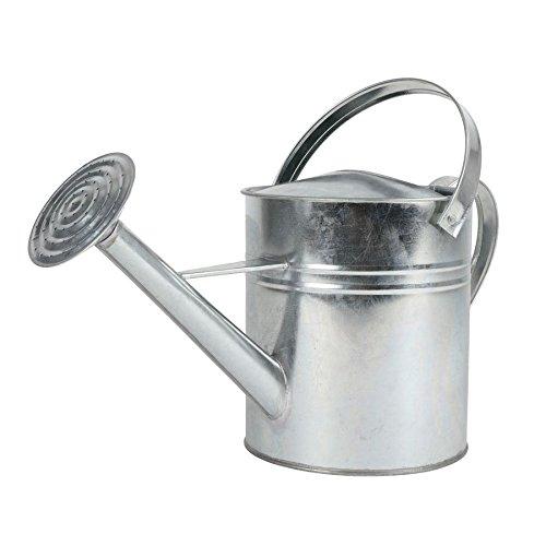 Buri Zink-Gießkanne 5L mit Henkel Blumenkanne Wasserkanne Garten Dekokanne Blechkanne