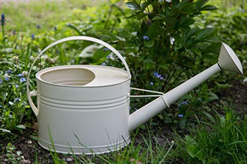 KUHEIGA Gießkanne 5 Liter Creme Metall Verzinkt Zink Kanne 1015 Wasserkanne