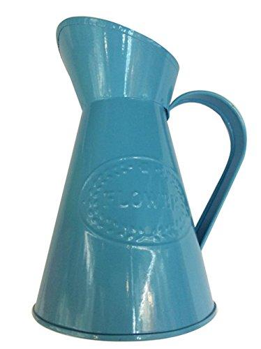 LAMEIDA Vase Multifunktionale Blumentopf Topfpflanzen Eisen Farbe Eimer Wasserkocher Gießkannen Gartenarbeit Pflanzen Blumentöpfe Dekoration Garten blau-751015cm