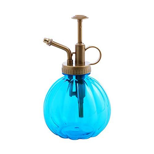 Rocita Mini Betriebsherr Vintage Style Dekorative Glas Wasser-Spray-Flasche mit Top Pump Kleiner Gießkanne für Indoor Topfpflanzen 1Pc Blau