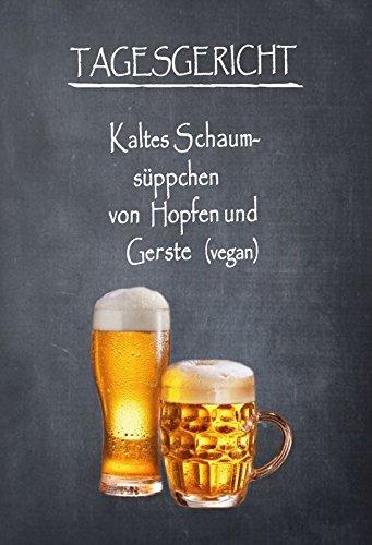 Schatzmix Tagesgericht - menu - Bier - vegan Metal Sign deko Sign Garten Blech