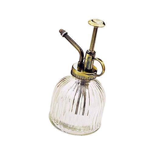 Handdruck-Sprühgießkanne aus Glas im Retro-Design