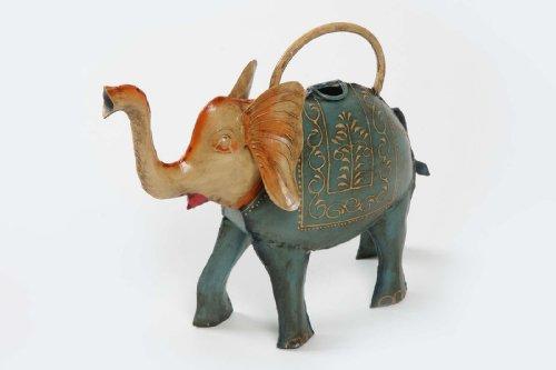 Gießkanne Elefant Kanne Metall handbemalt Metallkanne