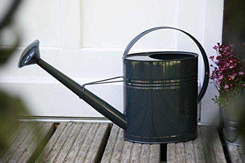 KUHEIGA Gießkanne 10 Liter Anthrazit Metall Zinkkanne Verzinkt Zink Kanne Wasserkanne