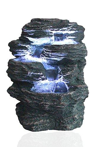 Arnusa Springbrunnen Niagara mit LED Beleuchtung IN-&OUTDOOR Zimmerbrunnen Gartenbrunnen Luftbefeuchter
