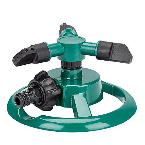 Garten Sprinkler Lifinsky Wasser Sprinkler Rasen Sprinkler 360 Grad 3-Arm drehender Wasser Sprenger Bewässerungs Basisanlage Bewässerungs Garten Versorgungsmaterialien