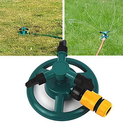 Garten Sprinkler Queta Garten Wasser Sprinkler 360 Grad 3-Arm Drehender Rasen Sprinkler für Rasen Hof Garten Basisanlage Bewässerungs Einstellbar Rasensprinkler